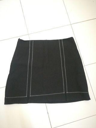 High waisted A skirt