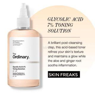 🚚 The ordinary - Glycolic Acid 7% Toning Solution