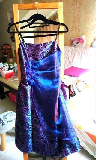 婚宴氣質禮服款無袖洋裝(深紫色),主持也可用 #母親節