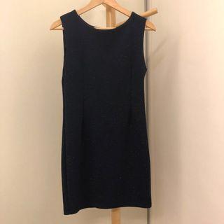 Navy Shimmer Dress 👗 #dressforsuccess30