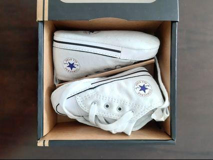 Converse chuck taylor white baby shoes