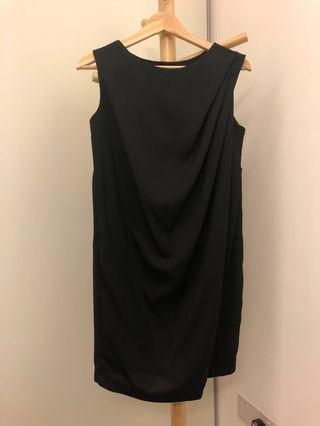 Black Drape Dress 👗 #dressforsuccess30