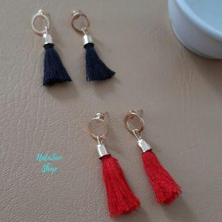 New Anting Mini Tassel Korea | Anting Murah Tusuk Giwang | Tassel Earrings