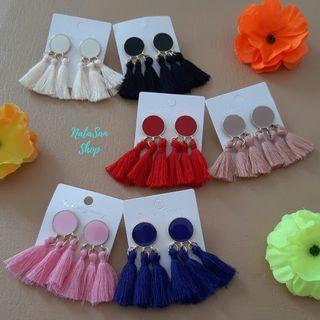 New Anting Tassel Rumbai Korea | Anting Tusuk Giwang | Vintage Earrings