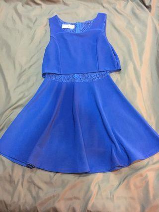 藍色蕾絲洋裝 #半價衣服拍賣會