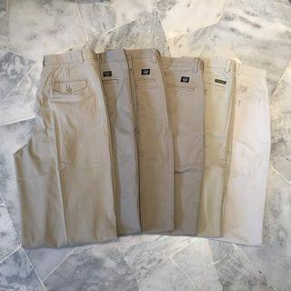 Bundle of 6 Khaki Long Pants (Ralph Lauren, Dockers, etc)