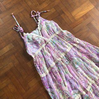 Lilac paisley maxi dress