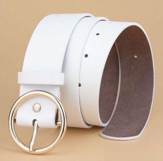 皮帶女款簡約百搭版 復古圓環時尚裝飾腰帶