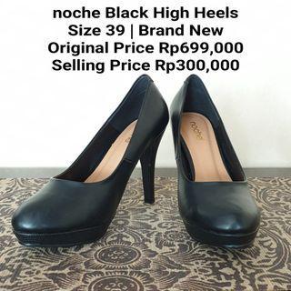 Noche Black High Heels