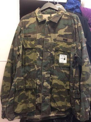 Wtaps x bape jungle shirt size L 98%new