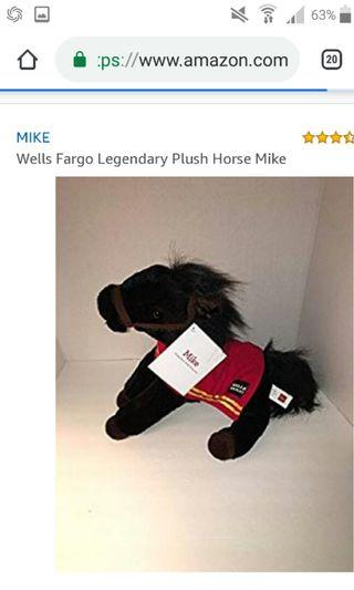 Mike, a legendary Wells Fargo pony