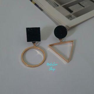New Anting Asimetris Segitiga Korea | Anting Tusuk Giwang | Stud Earrings