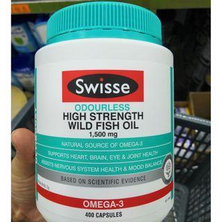 Swisse - 高濃度野生魚油 1500mg 400粒