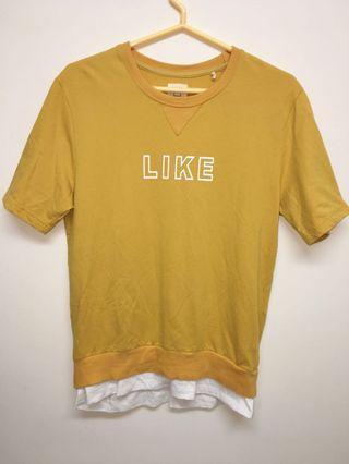🚚 Fifty Percent 芥末黃 短袖寬鬆版T恤