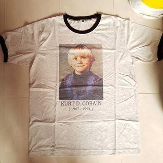 Rare Kurt Cobain Nirvana memorial ringer T-Shirt band music