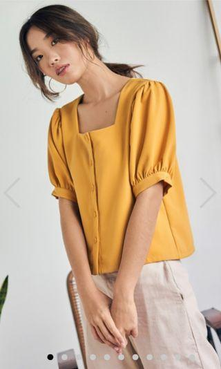 TCL Gerina Square Neck Top in Marigold (BNWT)