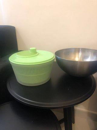 Salad spinner & salad bowl - great condition