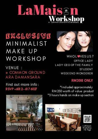 Exclusive Minimalist Makeup Workshop