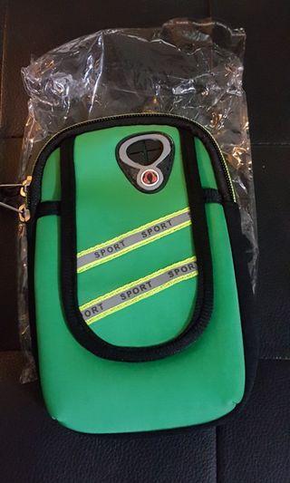 全新綠色魔術貼手臂包