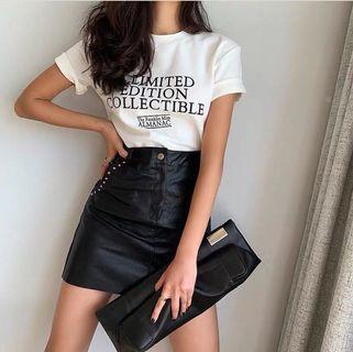 PU Leather Classic Skirt