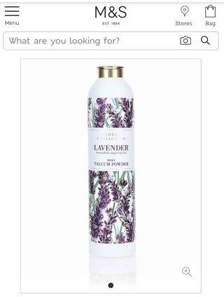 M&S Lavender Talcum Powder