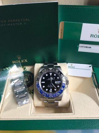 Rolex batman 116710blnr GMT