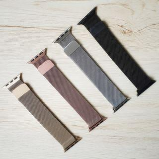 [READY STOCK] Apple Watch Magnetic Stainless Steel band straps for series 1-4, iwatch size 38mm/40mm/42mm/44mm