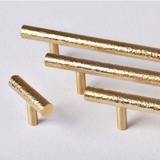 Distressed Brass Cabinet Handles