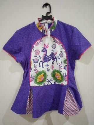 Purple Batik Peplum