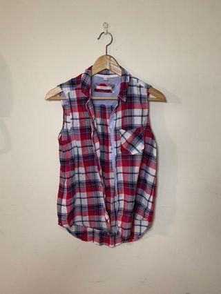 🚚 Esprit 襯衫款無袖上衣 超涼超舒服材質 s1