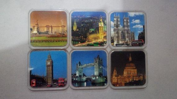 London Coasters 6pc set