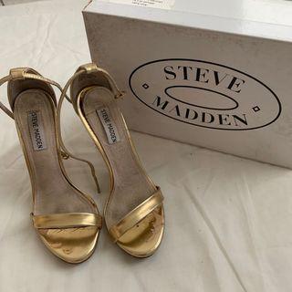 Steve Madden Ankle Strap Heels Gold