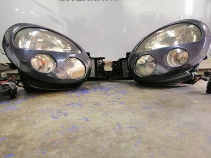 Headlamp HID Subaru Impreza Version 7 STI With Cf Cover Morette Look