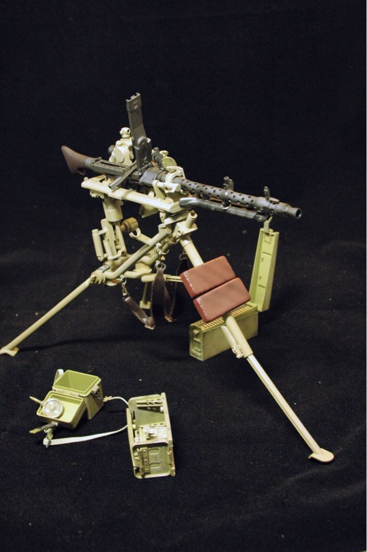 1/6 WW2 MG34 + tripod + ammo cans & Afrika Korps  officer,   #ENDGAMEyourEXCESS