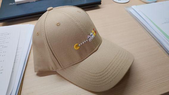 淺卡其刺繡小精靈鴨舌帽 棒球帽