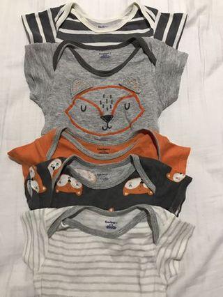 Gerber bodysuit baju bayi isi 5pcs