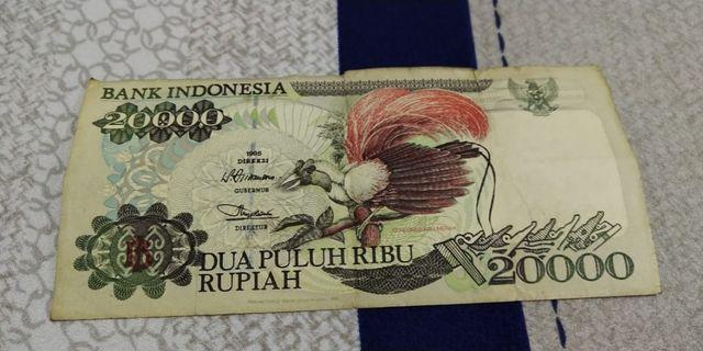 Uang kuno Rp. 20000 Tahun 1995