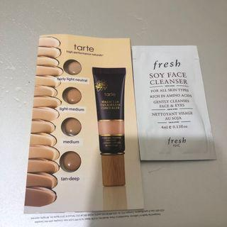 Tarte Concealer and Fresh Soy Face Cleanser