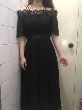 黑色連衣裙 連身裙