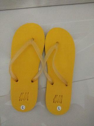 BN H&M yellow luminous slipper for women