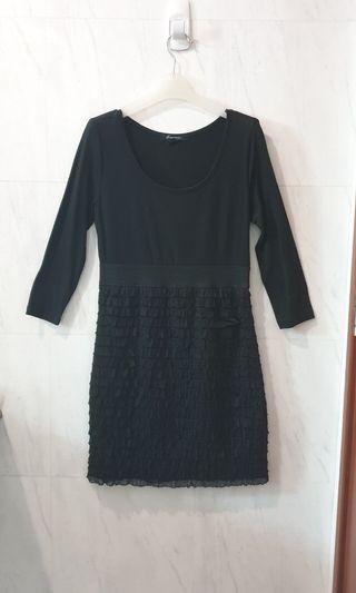 Forever 21 Ruffle Dress in Black