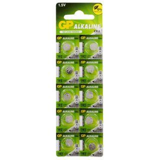 🚚 GP Alkaline Cell LR41 192F-2C10 10 Pieces Battery Pack
