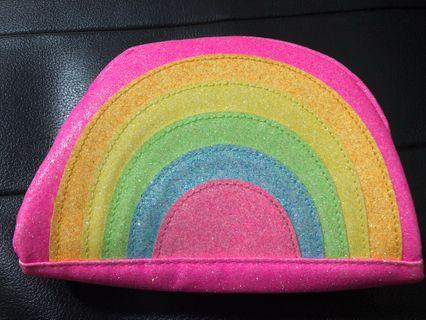 New! Typo Rainbow Glitter Pouch