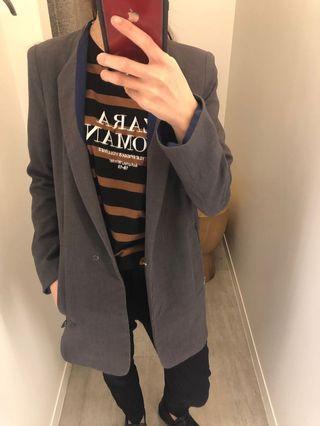 二手轉賣 韓貨店購入 西裝外套 拼色