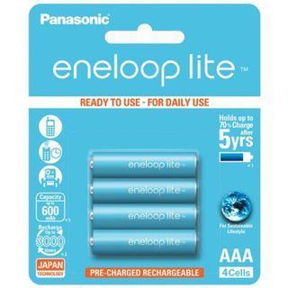 Panasonic Eneloop Lite AAA X 4 Rechargeable Batteries