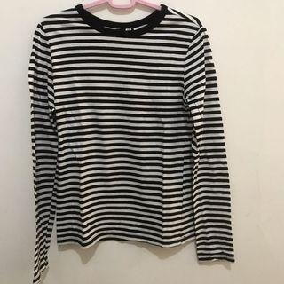 Kaos garis-garis h&m (shirt)