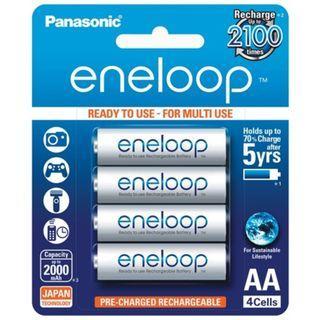 Panasonic Eneloop White 4 X AA Rechargeable Batteries