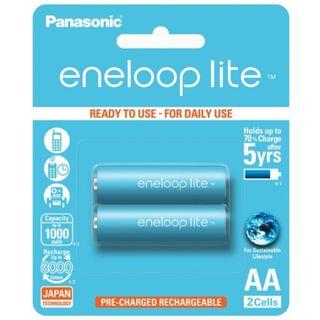 Panasonic Eneloop Lite AA x 2 Rechargeable Batteries