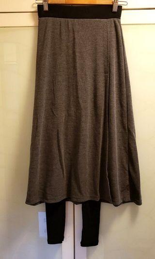 中長裙 leggings with dress (made in Korea)