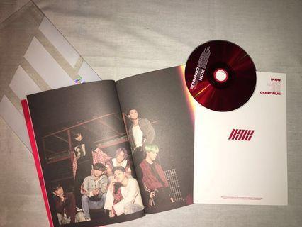 iKON NEW KIDS : CONTINUE ALBUM Version RED